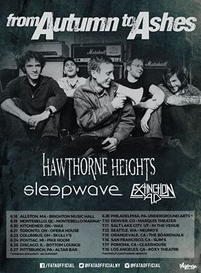 from autumn to ashes hawthorne heights sleepwave extinction ad