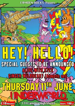 hey hello june 11 underworld show poster