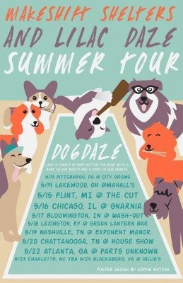makeshift shelters lilac daze summer 2015 tour