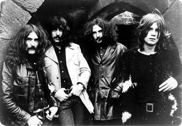 Black Sabbath in 1970, photo by Warner Brothers  Records