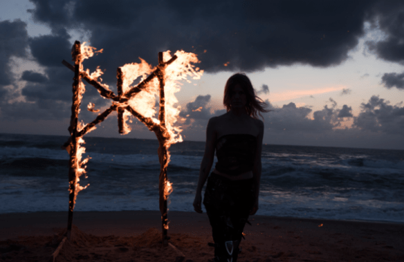 Photo from the Myrkur video shoot, by Lis Dyre