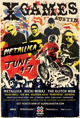 x games austin poster metallica