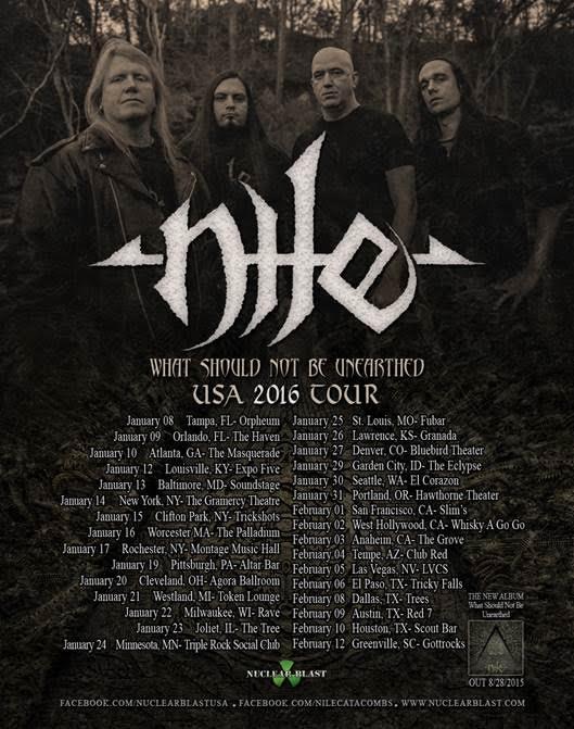 Nile 2016 US tour admat