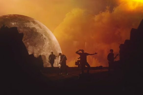 Still from Sirens and Sailors Rising Moon Setting Sun video