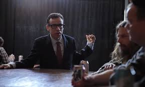 "Fred Armisen with Red Fang on the ""Blood Like Cream"" Music Video."