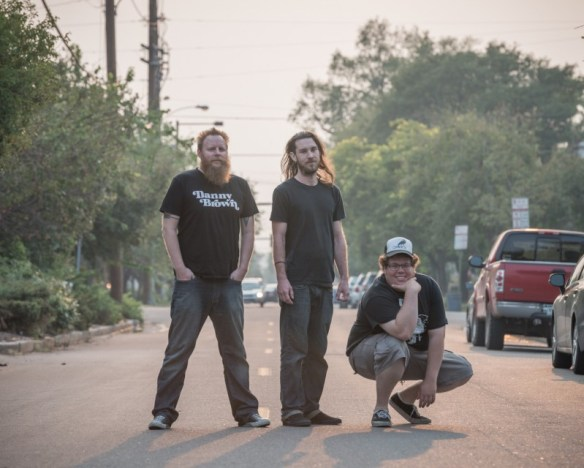 Denver Doom just got Doomier—Matriarch from left to right: guitarist J. Hartnett, drummer Tyler McKinney, and guitarist/vocalist Austin Wilson. Photo credit Travis Heacock