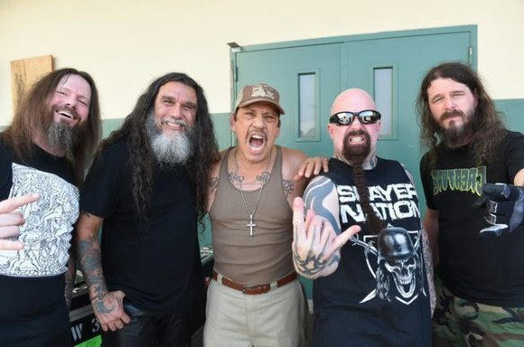 Slayer with Danny Trejo, at the 'Repentless' video shoot