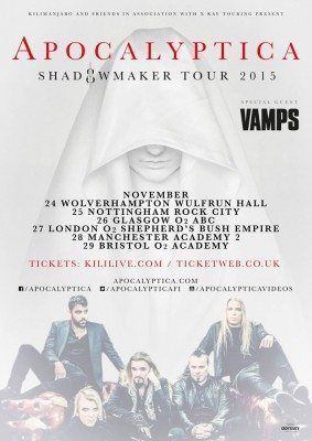 apocalyptica vamps uk tour 2015