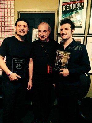 Dave Lombardo, Bill Ward and Charlie Benante from the Bonzo Bash 2015