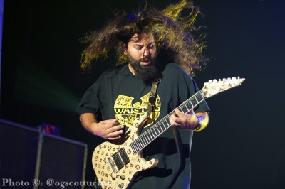 Stephen Carpenter of The Deftones. Photo Credit: Scott Uchida