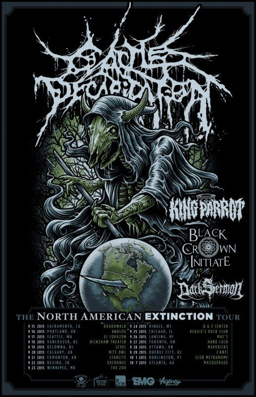 Cattle DEcapitation NA Extinction tour admat