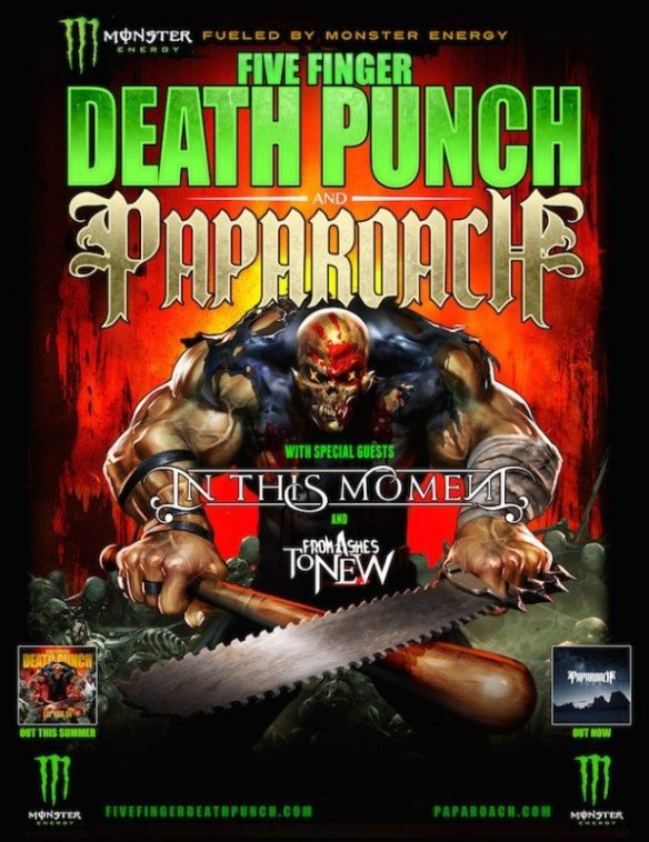 Five finger Death Punch Papa Roach ITM From Ashes To New