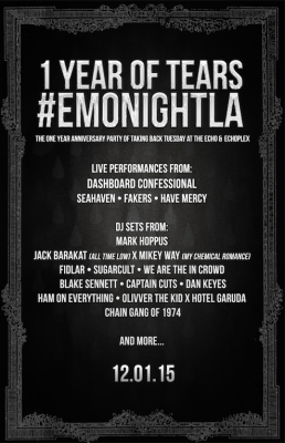 emo night taking back tuesday