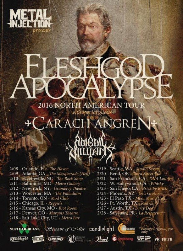 Fleshgod apocalypse usa tour admat winter 2016