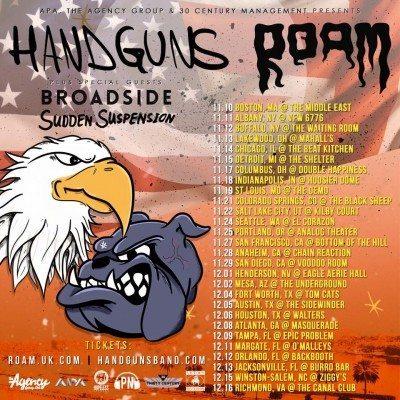 broadside handguns roam sudden suspension tour