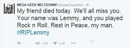 corey taylor slipknot RIP lemmy