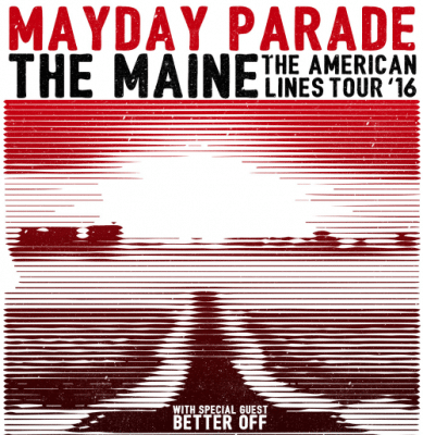 mayday parade the main lines tour 2016