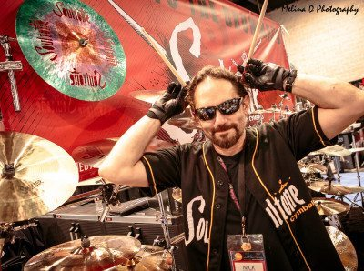 Nick Menza (ex-Megadeth) at The NAMM Show 2016, by Melina D Photography