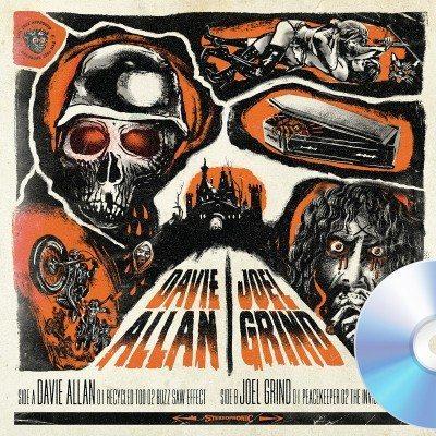 Davie Allan Joel Grind - Split EP cover ghostcultmag