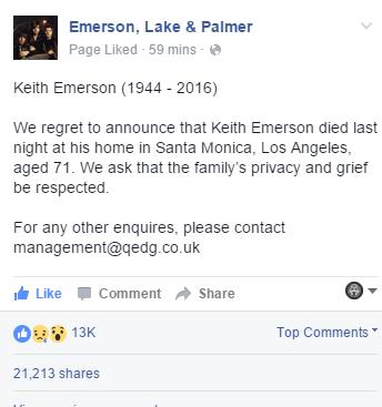 elp keith Emerson RIP ghostcultmag