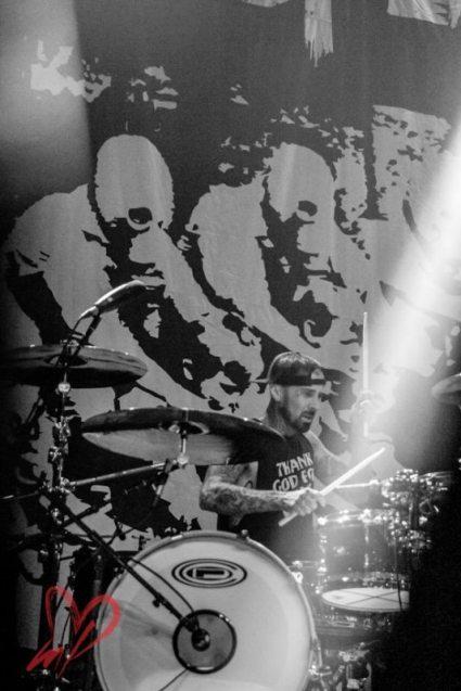 Travis Barker with The Transplants, by Meg Loyal Photography
