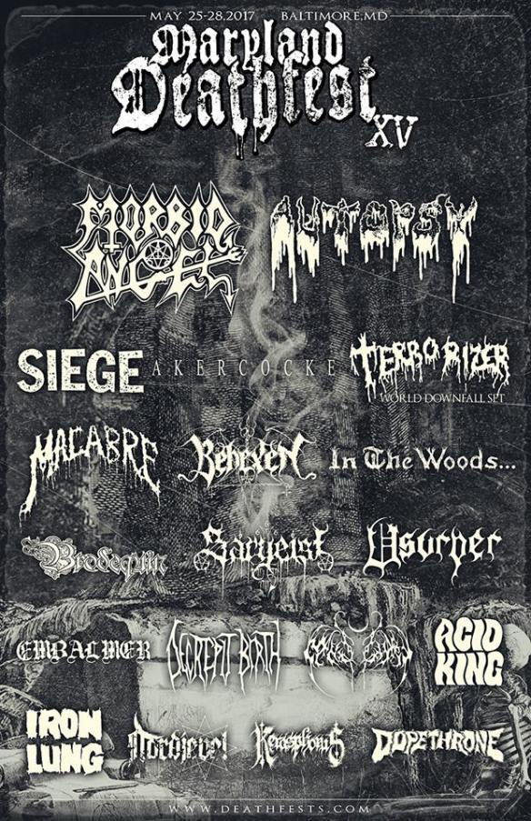 Maryland Deathfest 2017 first wave of bands ghostcultmag