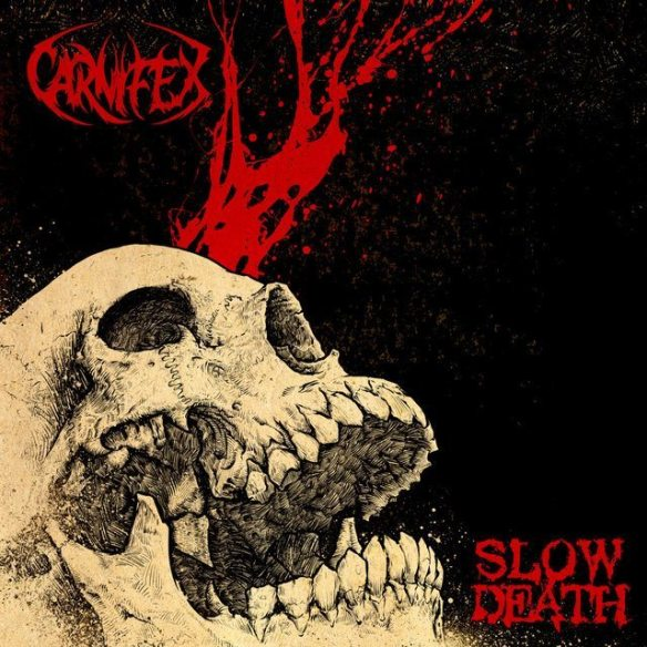 Carnifex – Slow Death album cover ghostcultmag