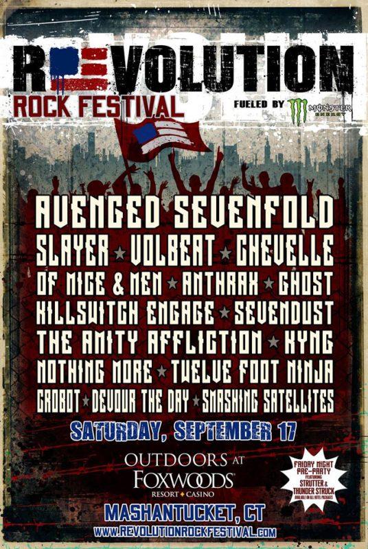 Revolution Rockfest poster ghostcultmag