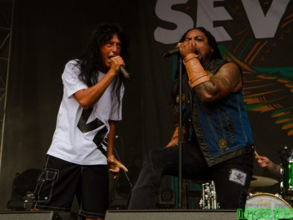 Sevendust and Joey Belladonna, by OJC Pics