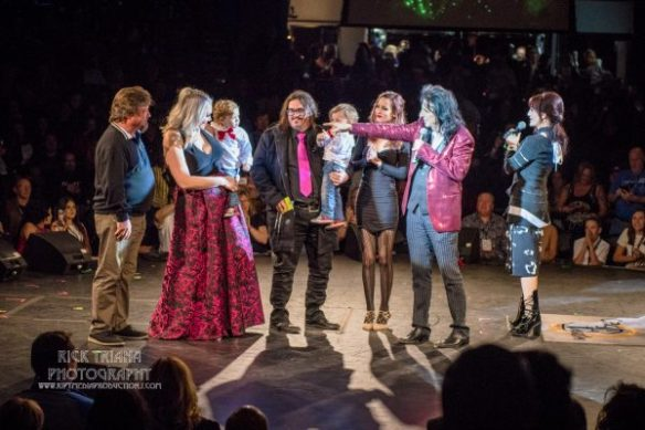 Teen Center Family and promoter Danny Zelisko from Alice Cooper's Christmas Pudding 15, by Rick Triana Photography