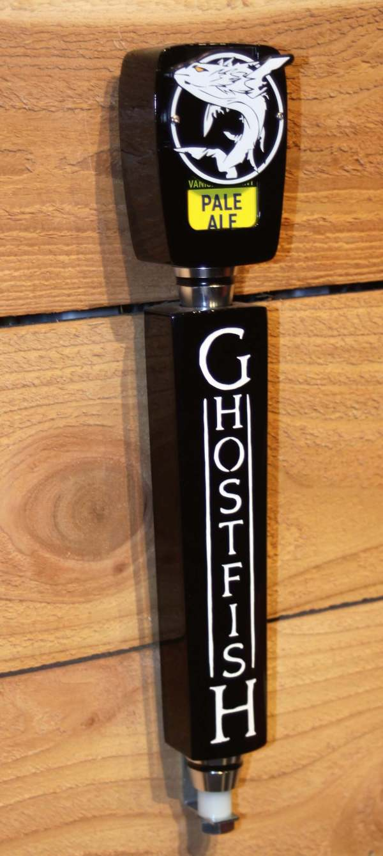 Ghostfish Brewing Tap Handle Black Gloss