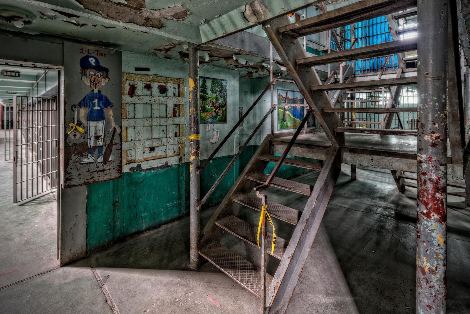 West Virginia Penitentiary Jail Stairs