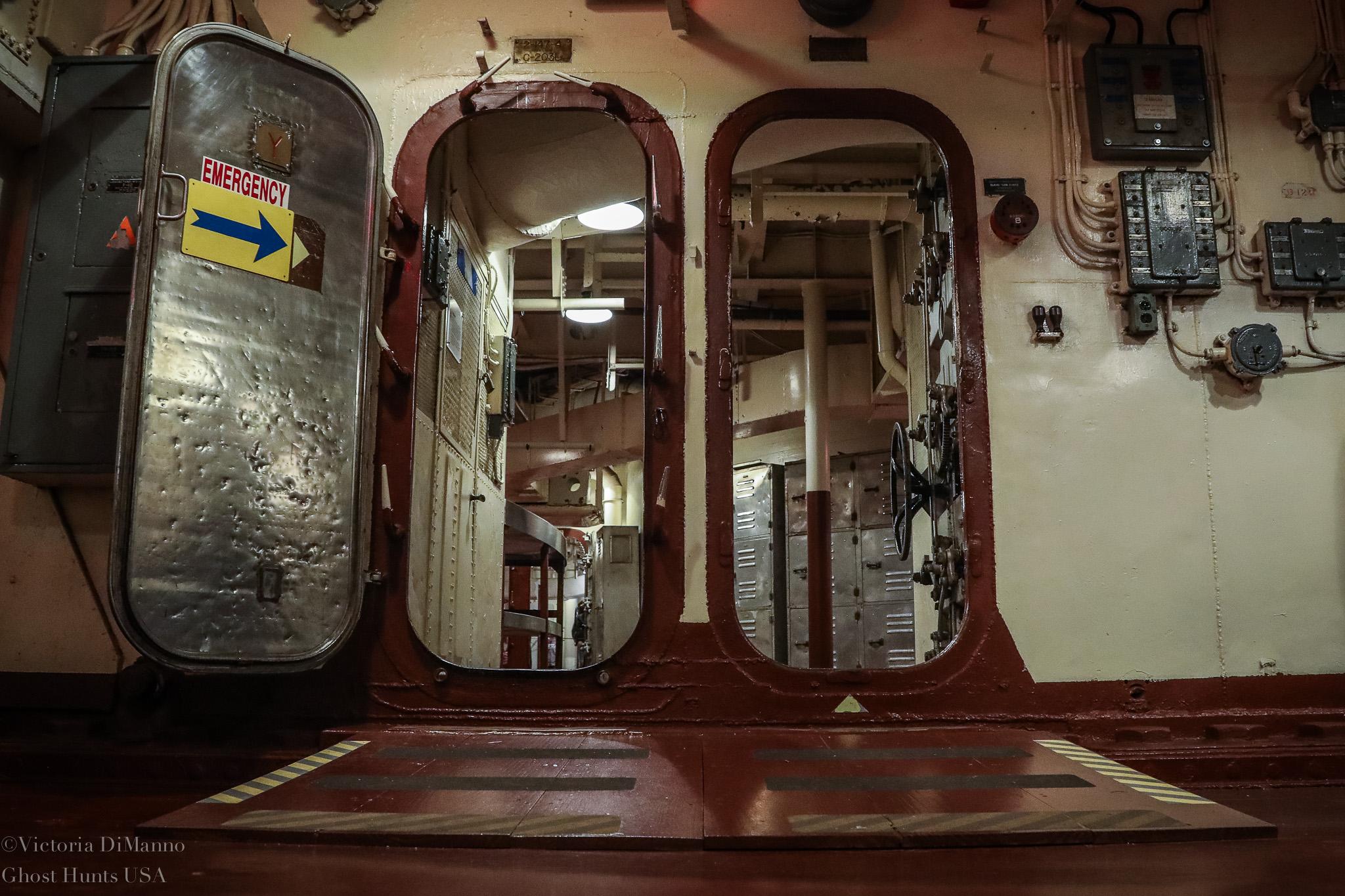 USS Battleship NC Doors