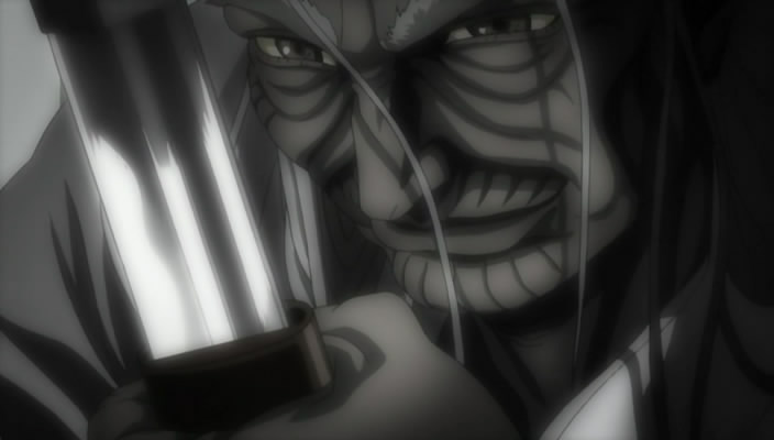 shigurui 05 kogan admires fujiki's maintenance of his sword