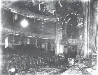 View of the seats after the fire