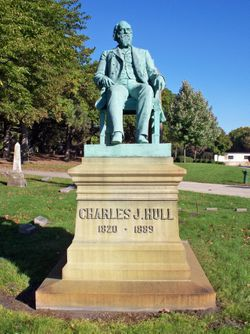 Charles J. Hull Memorial at Rosehill Cemetary Chicago
