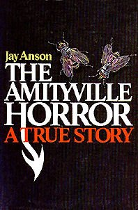 This is the front cover art for the book The Amityville Horror written by Jay Anson. The book cover art copyright is believed to belong to the publisher, Prentice Hall, or the cover artist.