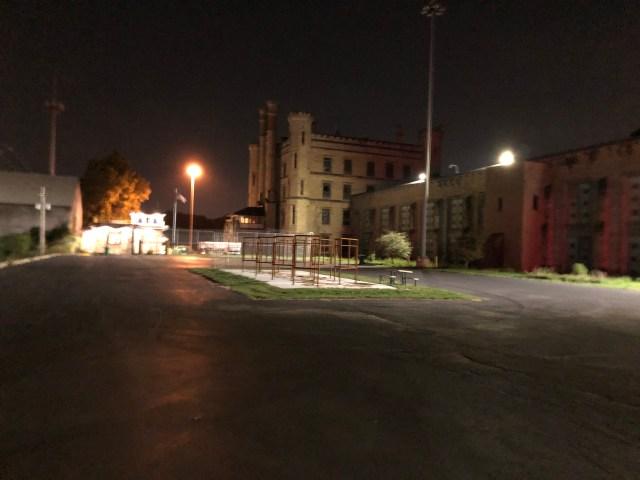 Joliet Prison at Night Photo by Rebecca Rivers