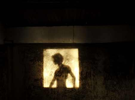 shadow, window, reflection, wall, silhouette, dark, woman, person, profile, night, ghost - visualization of the woman in the window at Country House