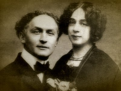 Houdini and his wife, Bess