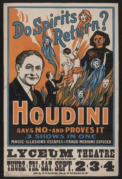 Houdini Lyceum Theatre Poster