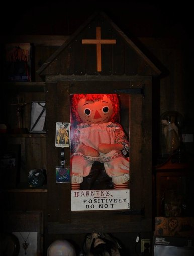 Annabelle in the Warren's Occult Museum by Jason R. Butler