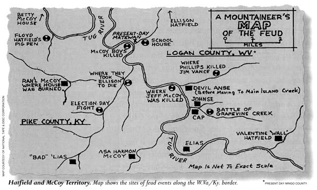 Hatfield-McCoy Map
