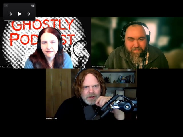 Ghostly Podcast with Guest Terry Carnation and Hosts Rebecca Rivers and Pat Harrington