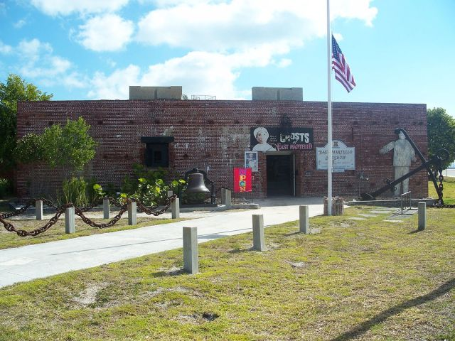 Key West, Florida: Martello Gallery-Key West Art and Historical Museum  https://commons.wikimedia.org/wiki/File:Key_West_FL_East_Martello_Tower_Museum07.jpg