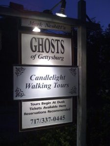 Ghosts of Gettysburg Lighted Sign