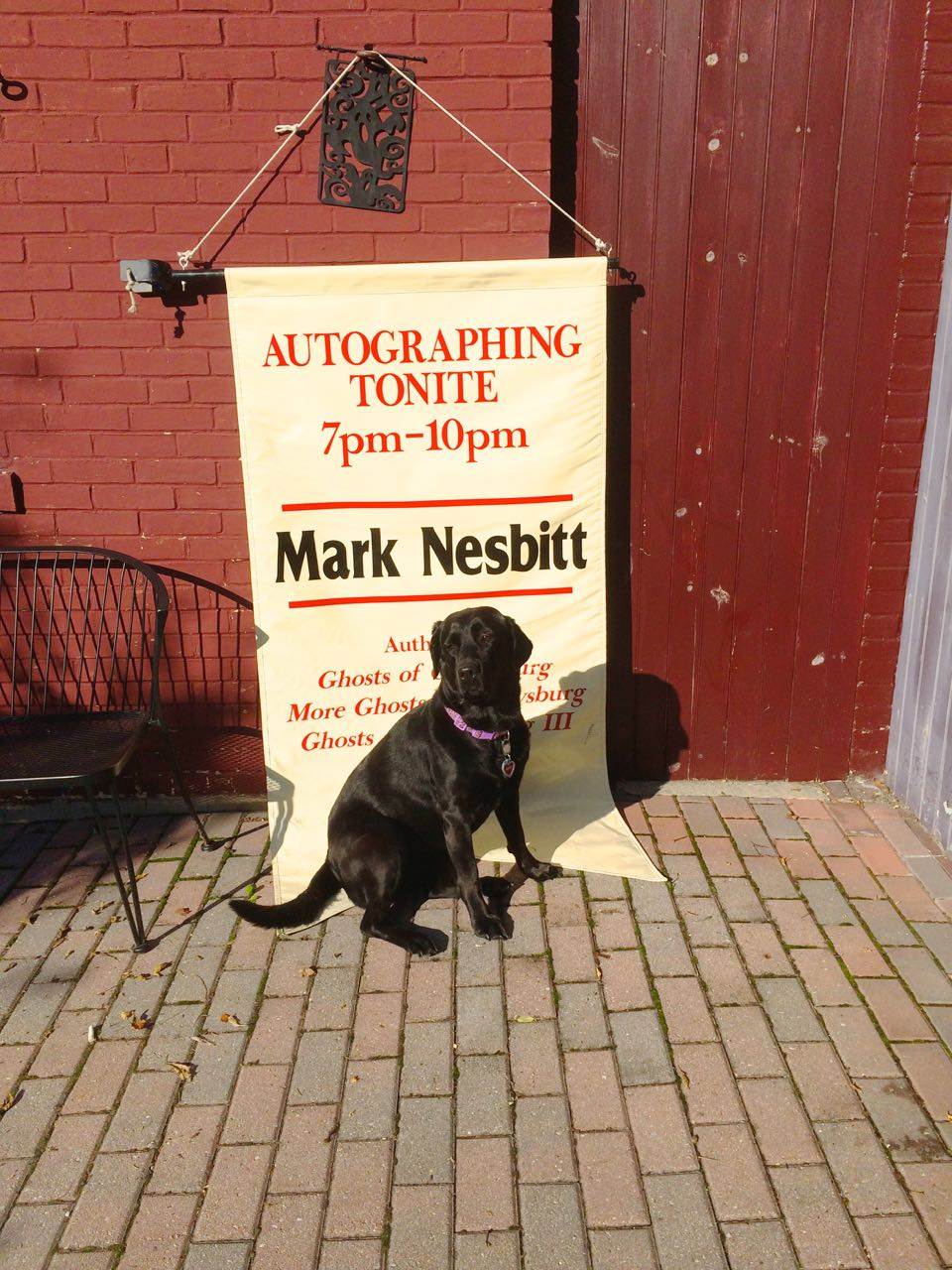 Mark Nesbitt's Ghosts of Gettysburg Candlelight Walking Tours ghost dog Onyx