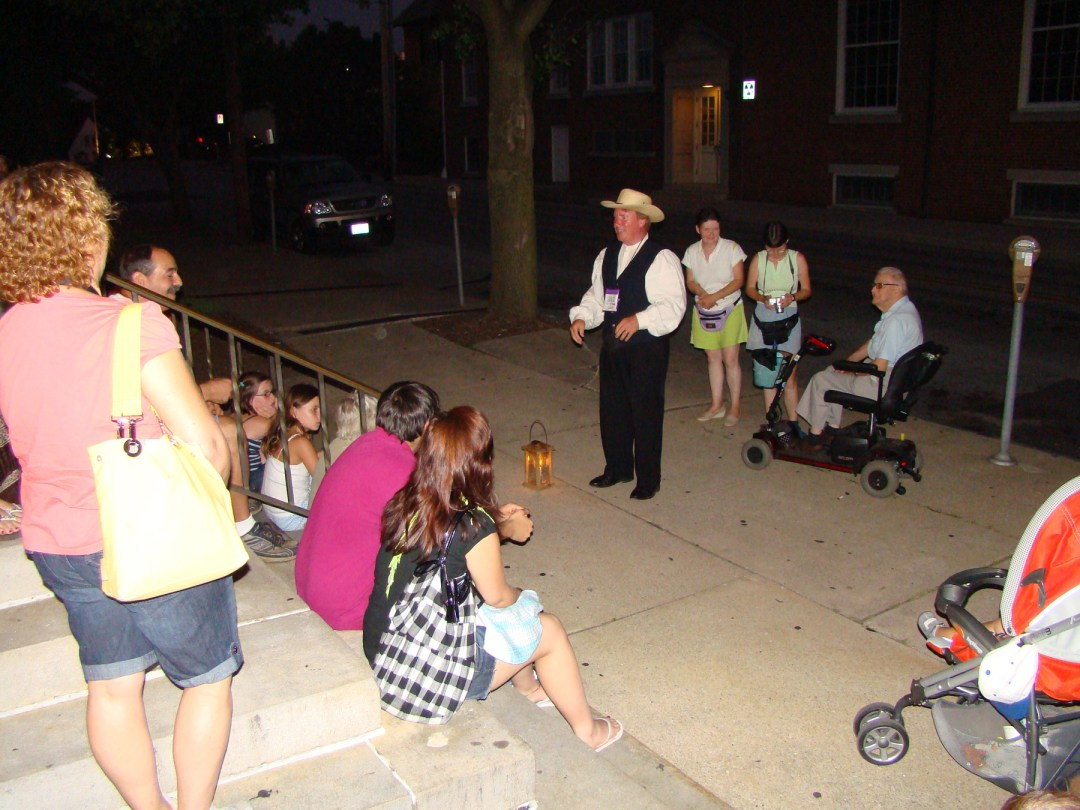 Mark Nesbitt's Ghosts of Gettysburg Candlelight Walking Tours guide with tour