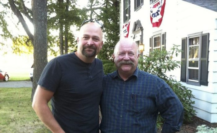"Mark Nesbitt of Ghosts of Gettysburg with ""Ghost Hunters"" lead investigator  Jason Hawes"