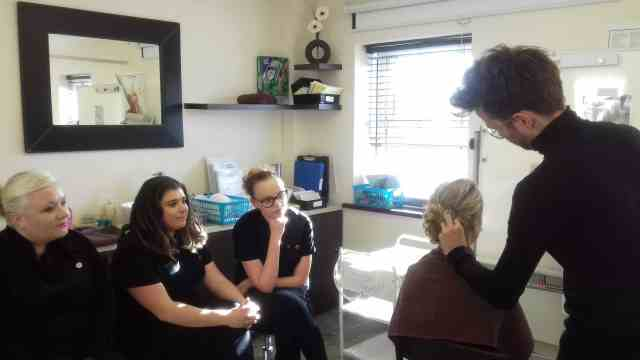 bridal hair demonstration for our make up students | ghq